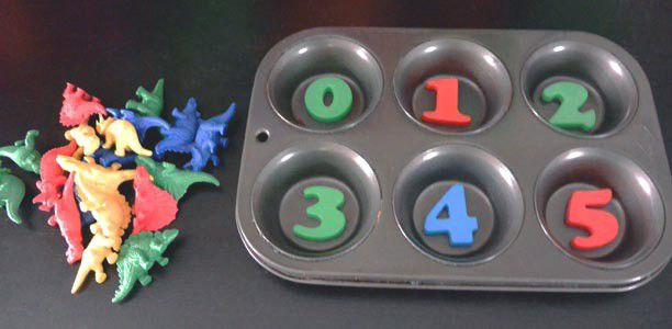 Counting with muffin tins